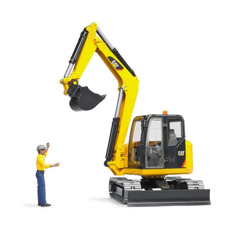 Excavadora CAT Con Trabajador  – Ref. 2466