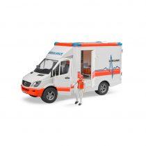 Ambulancia Mercedes Benz Bruder Con Sanitario De Juguete – Ref. 2536