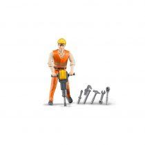 Trabajador De La Construcción Con Accesorios Bruder Bworld –  Ref. 60020