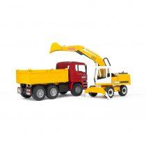 Camión De Obra MAN Con Excavadora Liebherr – Ref. 2751