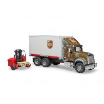 Camión Mack De Reparto UPS + Carretilla Elevadora – Ref. 2828