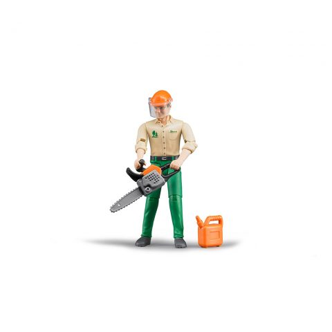 Trabajador Forestal Con Motosierra Bruder Bworld – Ref. 60030