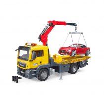 Camión Man Con Grua Y Coche Remolcado Bruder – Ref. 3750
