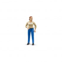 Figura De Granjera Con Jeans Bruder Bworld – Ref. 60408