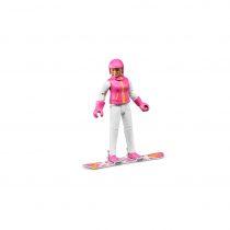 Figura De Esquiadora Con Accesorios Bruder Bworld – Ref. 60420