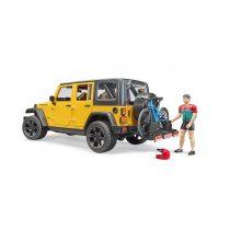 Todoterreno Jeep Con Bicicleta De Montaña Y Ciclista – Ref. 2543