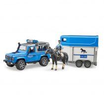 Todoterreno Land Rover De Policia Con Remolque De Caballos – Ref. 2588