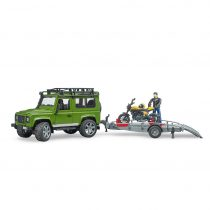 Todoterreno Land Rover Con Remolque Con Moto Ducati – Ref. 2589