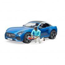 Coche Roadster Descapotable Con Conductor Bruder – Ref. 3481