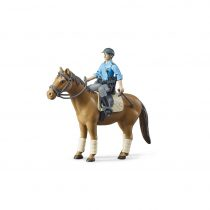 Figura De Policía Con Caballo Bruder Bworld – Ref. 62507
