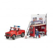 Estación De Bomberos Con Land Rover Defender – Ref. 62701