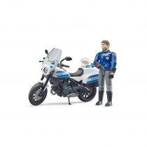 Motocicleta Ducati Con Figura De Policía Bruder Bworld – Ref. 62731