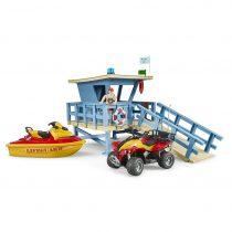 Puesto de Salvamento Marítimo con Quad y Moto Acuática Bruder Bworld – Ref. 62780